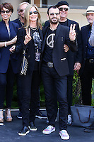HOLLYWOOD, LOS ANGELES, CA, USA - JULY 07: Barbara Bach, Ringo Starr at the announcement of special collaboration of John Varvatos and Ringo Starr on occasion of Ringo's birthday at Capitol Records Studio on July 7, 2014 in Hollywood, Los Angeles, California, United States. (Photo by Xavier Collin/Celebrity Monitor)