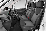 Front seat view of a 2015 Citroen Jumpy L1H1 Ft10 4 Door Cargo Van front seat Stock Photo