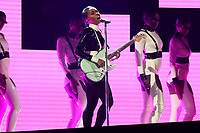 "Janelle Monae performs ""Make Me Feel"" at the 61st annual Grammy Awards on Sunday, Feb. 10, 2019, in Los Angeles. (Photo by Matt Sayles/Invision/AP)"
