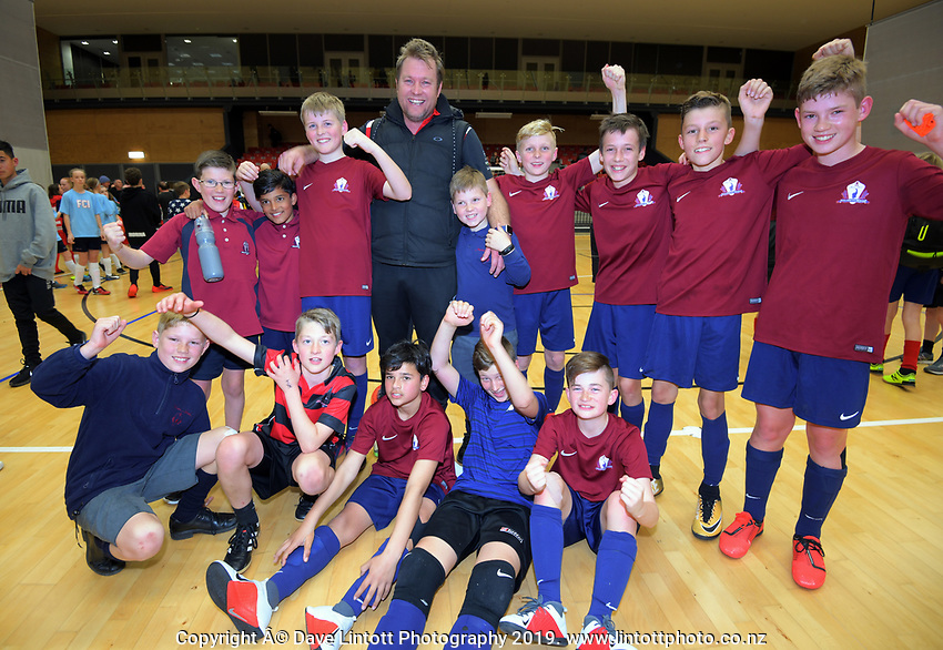 Boys' futsal champions Marian Catholic School on Day six of the 2019 AIMS games at Blake Park in Mount Maunganui, New Zealand on Friday, 13 September 2019. Photo: Dave Lintott / lintottphoto.co.nz