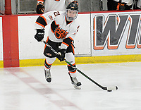 Verona's Leo Renlund brings the puck up the ice in the first period, as Madison West takes on Verona in Wisconsin Big Eight conference boys high school hockey on Friday, 1/3/20 at the Verona Ice Arena