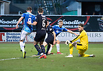 Dundee v St Johnstone&hellip;29.12.18&hellip;   Dens Park    SPFL<br />David Wotherspoon&rsquo;s shot is blocked<br />Picture by Graeme Hart. <br />Copyright Perthshire Picture Agency<br />Tel: 01738 623350  Mobile: 07990 594431