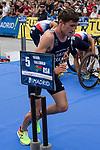 Simon Viain of France during the 2017 Madrid ITU Triathlon World Cup in Madrid, May 28, 2017. Spain.. (ALTERPHOTOS/Rodrigo Jimenez)
