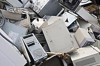 Scrap Fridge and Computers at Breakers Yard UK.©shoutpictures.com..john@shoutpictures.com