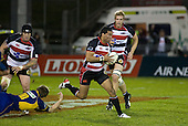 Siale Piutau breaks past Chris Noakes. Air New Zealand Cup rugby game played at Mt Smart Stadium, Auckland, between Counties Manukau Steelers & Otago on Thursday August 21st 2008..Otago won 22 - 8 after leading 12 - 8 at halftime.