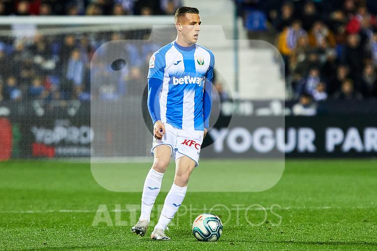 Rodrigo Tarin of CD Leganes during La Liga match between CD Leganes and Getafe CF at Butarque Stadium in Leganes, Spain. January 17, 2020. (ALTERPHOTOS/A. Perez Meca)
