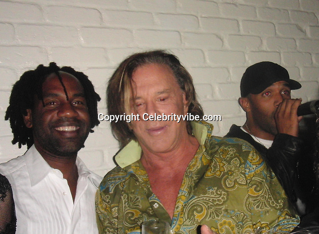 **EXCLUSIVE**.Unik, Mickey Rourke and Craig David..2009 VMA Awards Post Party Hosted by Unik..Cipriani Downtown..New York, NY, USA..Sunday, September 13, 2009. .Photo By Celebrityvibe.com.To license this image please call (212) 410 5354; or Email: celebrityvibe@gmail.com ;.website: www.celebrityvibe.com