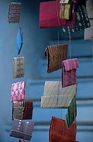 Asie/Inde/Rajasthan/Udaipur: Détail cahiers et carnets artisanaux utilisés pour la comptabilité près du marché Bara Bazar