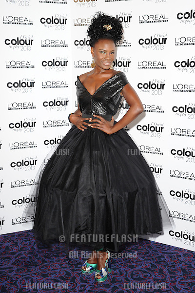 Shingai Shoniwa at The L'Oreal Colour Trophy grand final 2013 held at the Grosvenor House hotel, London. 03/02/2013 Steve Vas / Featureflash