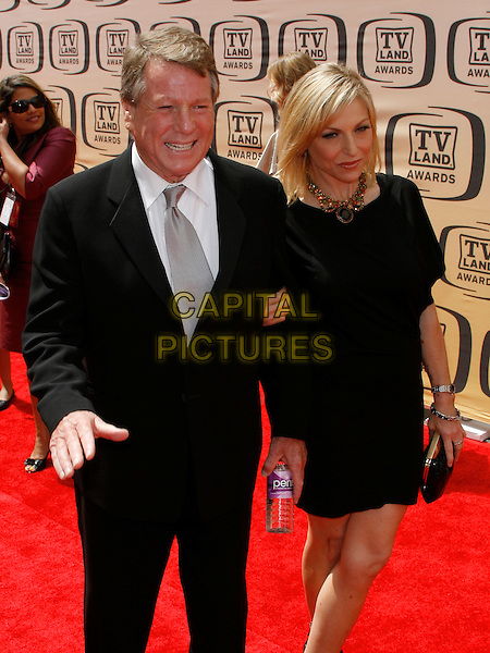 RYAN O'NEAL & TATUM O'NEAL.The 8th Annual TV Land Awards held at  Sony Studios in Culver City, California, Culver City, USA..April 17, 2010   .half length black suit jacket dress 3/4 father dad daughter family .CAP/ROT/BAR.©Barraza/Lee Roth/Capital Pictures