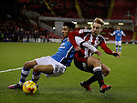 Harry Chapman of Sheffield Utd tussles with Josh Ginnelly of Walsall during the English League One match at Bramall Lane Stadium, Sheffield. Picture date: November 29th, 2016. Pic Simon Bellis/Sportimage