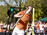 BLOEMENDAAL   - Hockey -  2e wedstrijd halve finale Play Offs heren. Bloemendaal-Amsterdam (2-2) . A'dam wint shoot outs.  Floris Wortelboer (Bldaal).  COPYRIGHT KOEN SUYK