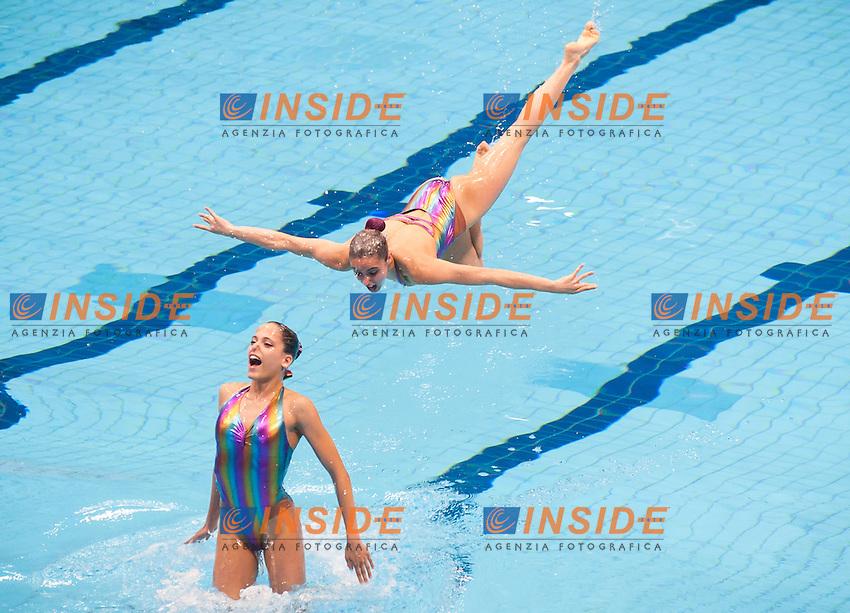 Team SUI<br /> London, Queen Elizabeth II Olympic Park Pool <br /> LEN 2016 European Aquatics Elite Championships <br /> Synchro<br /> Team technical final <br /> Day 01 09-05-2016<br /> Photo Giorgio Perottino/Deepbluemedia/Insidefoto