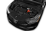 Car stock 2019 Acura RDX A-Spec Package 5 Door SUV engine high angle detail view