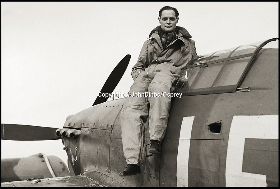 BNPS.co.uk (01202 558833)<br /> Pic: JohnDibbs/Osprey/BNPS<br /> <br /> Famous legless ace Douglas Bader poses on a Hurricane.<br /> <br /> Last of the Few - A photographer's stunning new book is a tribute to the last Hawker Hurricane's - the true workhorse of the Battle of Britain.<br /> <br /> Only 13 WW2 Hurricanes are still airworthy today, compared to over 60 of their more glamorous counterpart the Spitfire.<br /> <br /> But during the Battle of Britain there were in fact twice as many Hurricane's as Spitfires taking on Hitlers Luftwaffe in the skies over southern England.<br /> <br /> The Hurricane may be viewed as less glamorous than the Spitfire, but these stunning photographs reveal just how majestic it was in full flight.<br /> <br /> Photographer John Dibbs has got up close and personal to the legendary fighter planes in order to capture them like never before.<br /> <br /> His 10 year quest for surviving Hurricanes took him all over the world and he photographed them in England, France, the United States and New Zealand.<br /> <br /> Using the skill and experience of highly experienced RAF and civilian pilots, Mr Dibbs was able to fly to within 15ft of some of the last remaining Hurricanes - with breath-taking results.<br /> <br /> There was a fair degree of skill involved as he took the photos from the canopy of a Second World War trainer aircraft which was travelling at 200mph while confronting wind blast.<br /> <br /> The thrilling photos were taken for an a definitive history of the Hurricane which is told by Mr Dibbs and aviation historians Tony Holmes and Gordon Riley in their new book Hurricane, Hawker's Fighter Legend.