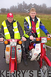 Getting ready for the Mad Motorcycle Club Honda Run held last Sunday morning in Knocknagoshal was Cork duo Finbarr Sullivan and Kenneth Deane.