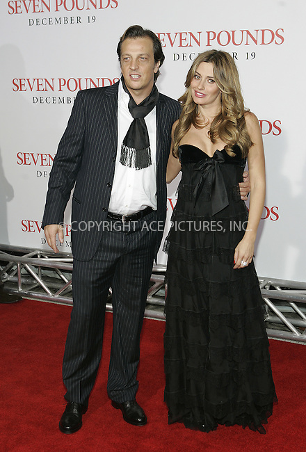 WWW.ACEPIXS.COM . . . . . ....December 16 2008, LA....Director Gabriele Muccino (L) and guest at the premiere of Columbia Pictures' 'Seven Pounds' at Mann's Village Theatre on December16, 2008 in Hollywood, California.....Please byline: JOE WEST- ACEPIXS.COM.. . . . . . ..Ace Pictures, Inc:  ..(646) 769 0430..e-mail: info@acepixs.com..web: http://www.acepixs.com