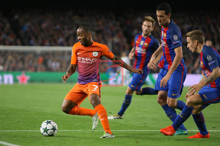 UEFA Champions League 2016/2017 - Matchday 3.<br /> FC Barcelona vs Manchester City FC: 4-0.<br /> Raheen Sterling vs Sergio Busquets.