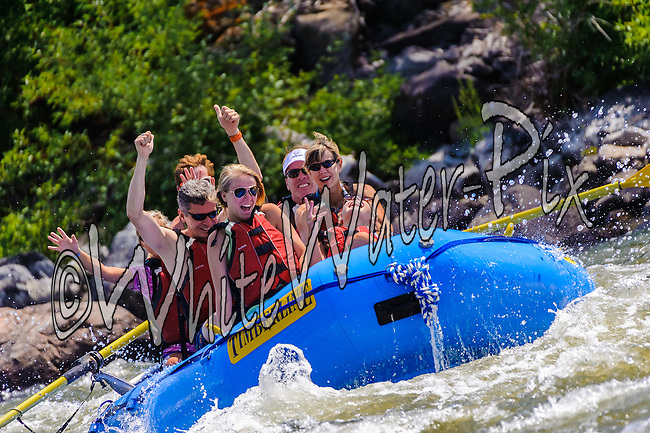 Timberline Tours crashing Cable Rapid while floating the Upper Colorado River from Rancho Del Rio to State Bridge on the morning of August 9, 2014.