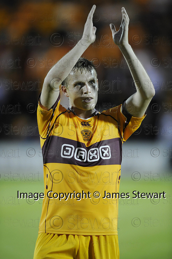 06/08/2009  Copyright  Pic : James Stewart.sct_20_motherwell_v_steaua_bucharest  .STEVEN HAMMELL AT THE END OF THE GAME.James Stewart Photography 19 Carronlea Drive, Falkirk. FK2 8DN      Vat Reg No. 607 6932 25.Telephone      : +44 (0)1324 570291 .Mobile              : +44 (0)7721 416997.E-mail  :  jim@jspa.co.uk.If you require further information then contact Jim Stewart on any of the numbers above.........