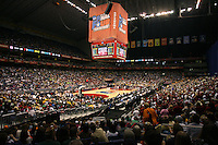 SAN ANTONIO, TX - APRIL 4: The Alamo Dome venue during Stanford's 73-66 win over Oklahoma in the Final Four semi-finals at the Alamo Dome on April 4, 2010 in San Antonio, Texas.