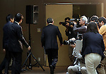 December 27, 2016, Tokyo, Japan - Japan's troubled electronics giant Toshiba president Satoshi Tsunakawa leaves a press conference at the company's headquarters in Tokyo on Friday, January 27, 2017. Toshiba will spin off its semiconductor business to raise funds as Toshiba's nuclear subsidiary Westinghouse had a massive loss in the US business.   (Photo by Yoshio Tsunoda/AFLO) LWX -ytd-