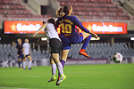 UEFA Women's Champions League 2017/2018.<br /> Round of 16.<br /> FC Barcelona vs Gintra Universitetas: 3-0.<br /> Lyubov Gudchenko vs Olga Garcia.