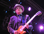 Elvis Costello on the main stage at the Westport Festival.<br /> Pic Conor McKeown