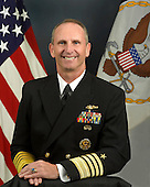 Admiral Jonathan W. Greenert is a native of Butler, Pennsylvania. He graduated from the United States Naval Academy in 1975 and completed studies in nuclear power for service as a submarine officer. His career as a submariner includes assignments aboard USS Flying Fish (SSN 673), USS Tautog (SSN 639), Submarine NR-1 and USS Michigan (SSBN 727 - Gold Crew), culminating in command of USS Honolulu (SSN 718) from March 1991 to July 1993.  Subsequent fleet command assignments include Commander, Submarine Squadron 11; Commander, U.S. Naval Forces Marianas; Commander, U.S. 7th Fleet (August 2004 to September 2006); and, Commander, U.S. Fleet Forces Command (September 2007 to July 2009).  Greenert has served in various fleet support and financial management positions, including deputy chief of Naval Operations for Integration of Capabilities and Resources (N8); deputy commander, U.S. Pacific Fleet; chief of staff, U.S. 7th Fleet; head, Navy Programming Branch and director, Operations Division Navy Comptroller. Most recently he served as 36th vice chief of naval operations (August 2009 to August 2011).  He is a recipient of various personal and campaign awards including the Distinguished Service Medal (6 awards), Defense Superior Service Medal and Legion of Merit (4 awards). In 1992 he was awarded the Vice Admiral Stockdale Award for inspirational leadership. He considers those awards earned throughout his career associated with unit performance to be most satisfying and representative of naval service.  Greenert became the 30th Chief of Naval Operations Sep. 23, 2011..Mandatory Credit: Monica A. King / DoD via CNP