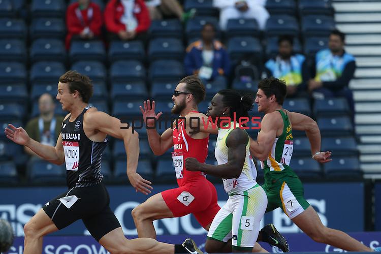 Glasgow 2014 Commonwealth Games<br /> Men's Decathlon 100m Heats<br /> Ben Gregory (Wales)<br /> <br /> 28.07.14<br /> ©Steve Pope-SPORTINGWALES