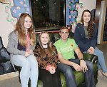25/10/2014.   Munster Rugby's Tommy O'Donnell an ambassador of iCAN (Irish Childrens Arthritis Network)photographed on Saturday in Kids Town, Gillogue with Orla Kelly(13), Niamh Costello(15) and Niamh Kelly(16).<br /> Picture: Liam Burke/Press 22