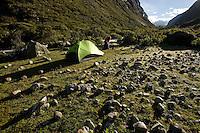 Santa Cruz Trek, Peru - campsite