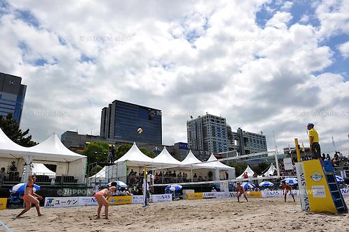 General view,.MAY 4, 2012 - Beach Volleyball : JBV Tour 2012 Sports Club NAS Open at Odaiba Beach, Tokyo, Japan. (Photo by Jun Tsukida/AFLO SPORT) [0003].