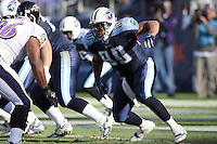 Titans tight end Bo Scaife in action against the Ravens at LP Field in Nashville, Tennessee on November 12, 2006. Baltimore won 27-26.