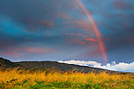 Rainbow over the Hale, Lana`i, Hawai`i