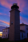 Jamestown Beavertail lighthouse, Jamestown, RI. Photographed at sunset on Tuesday, Aug. 16, 2011.