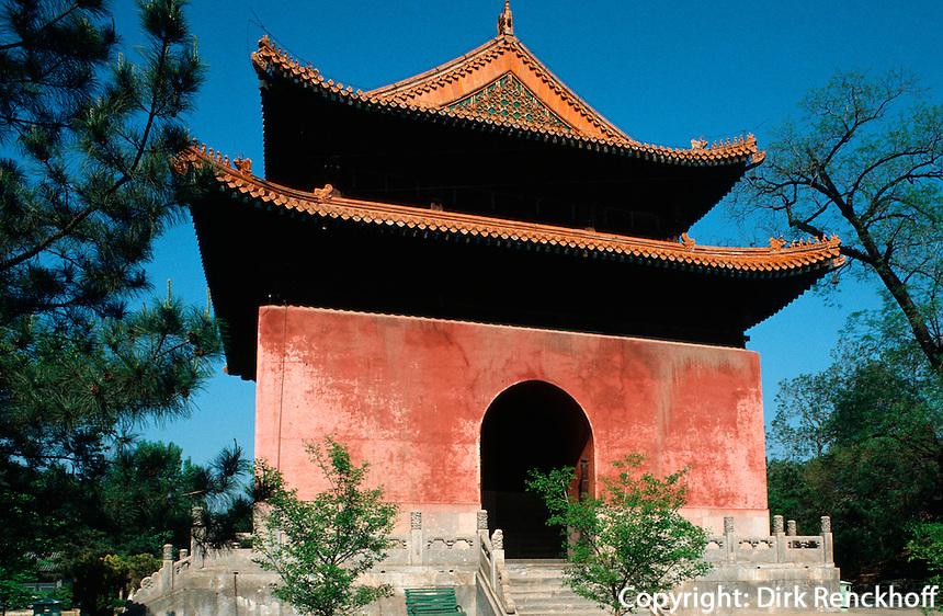 Xumifushou Mia (Tempel), Stelenpavillon, Chengde, China, Unesco-Weltkulturerbe