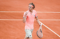 Alexander Zverev of Germany celebrates during Day 10 for the French Open 2018 on June 5, 2018 in Paris, France. (Photo by Anthony Dibon/Icon Sport)