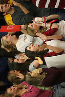 17 February 2006: Fans during Stanford's win over the University of Arizona at Burnham Pavilion in Stanford, CA.