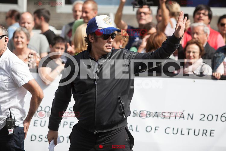 Puerto Rican actor Benicio del Toro arrives  at 63rd Donostia Zinemaldia (San Sebastian International Film Festival) in San Sebastian, Spain. September 18, 2015. (ALTERPHOTOS/Victor Blanco) /NortePhoto.com