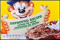 BNPS.co.uk (01202 558833)<br /> Pic : RogerArbon/BNPS<br /> <br /> A schoolgirl has forced Kelloggs to change its 'sexist' wording on packets of Coco Pops after writing to the cereal giant to complain.<br /> <br /> Hannah-Marie Clayton, 10, objected to the slogan 'Loved by kids, approved by mums' on the boxes of the chocolate cereal.<br /> <br /> So she fired off a letter to Kellogs saying she found the phrase 'sexist' and pointed out her dad James often makes her breakfast as mum, Anne-Marie, sometimes works away.<br /> <br /> Kelloggs has since replied to confirm they will be altering the wording on the boxes.