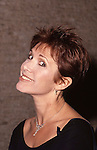 Carrie Fisher photographed on September 20, 1990 in New York City.