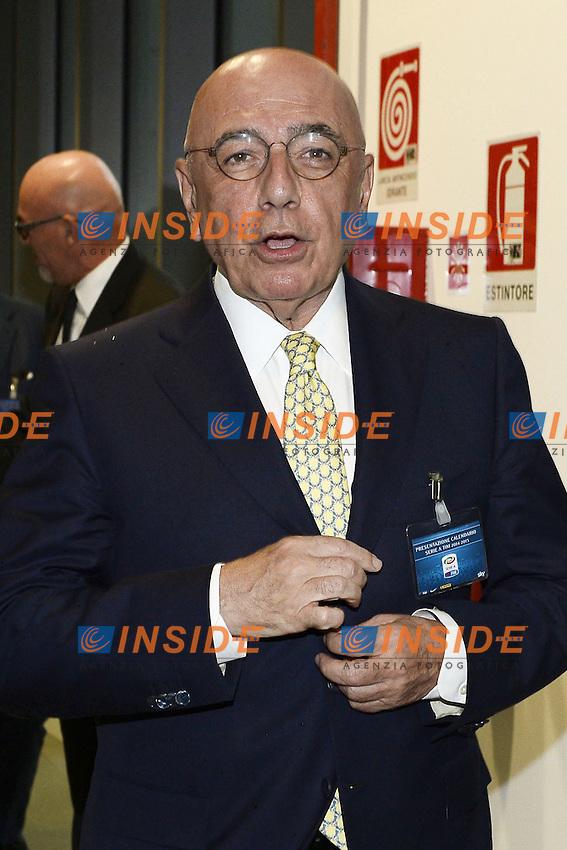 Milano 28/07/2014 - presentazione calendari serie A stagione 2014-2015 / foto Daniele Buffa/Image Sport/Insidefoto<br /> nella foto: Adriano Galliani