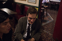 Max at the Cock Tavern pub after opening for Free Architecture at the Chalton Gallery, London, England, Great Britain