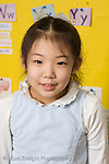 Elementary School New York Grade 2 closeup portrait of girl vertical