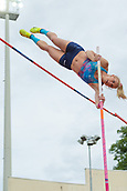 June 15th 2017, Bislett Stadion , Oslo, Norway; Diamond League Oslo Bislett Games;  Mary Saxer of United States competes in the ladies pole vault during the IAAF Diamond League held at the Bislett Stadium