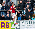 Ayr Utd's Jon Paul McGovern celebrates after he scores their first goal from the spot.