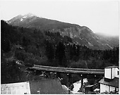 Bridge 45-B with Bridge 45-A in the background.  Left half only of panoramic view of Ophir which appears in the listed books.<br /> RGS  Ophir, CO  ca 1948
