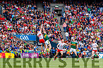 Tommy Walsh, Kerry in action against Pádraig Hampsey, Tyrone during the All Ireland Senior Football Semi Final between Kerry and Tyrone at Croke Park, Dublin on Sunday.
