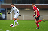 Kristoffer Peterson of Swansea City u23s' in action during the Premier League 2 Division Two match between Swansea City u23s and Middlesbrough u23s at Swansea City AFC Training Academy  in Swansea, Wales, UK. Monday 13 January 2020.